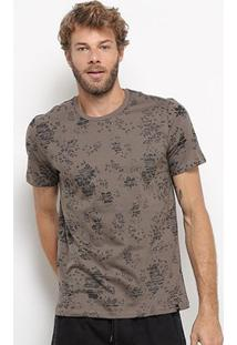 Camiseta All Free Estampada Masculina - Masculino-Café