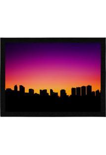 Capacho - Tapete Colours Creative Photo Decor - Skyline Preto