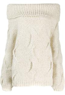 Snobby Sheep Off The Shoulder Sweater - Branco