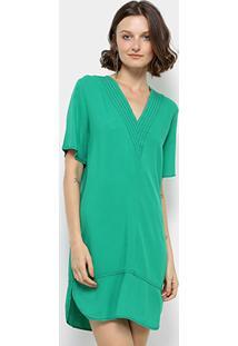 Vestido colcci longo evase verde