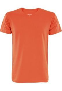Camiseta Gajang Sem Costura Gola V Tomate