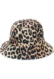 Ganni Chapéu Bucket Com Estampa De Leopardo - Neutro