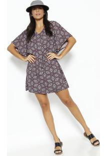 Vestido Geomã©Trico & Quick Dryâ®- Roxo & Lilã¡Suv Line