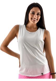 Regata Rich Young Básica Lisa Fitness Academia Branca