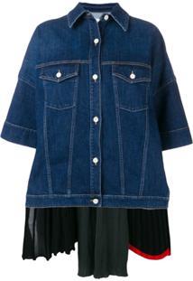 Sonia Rykiel Jaqueta Jeans Com Sosbreposição Posterior - Azul