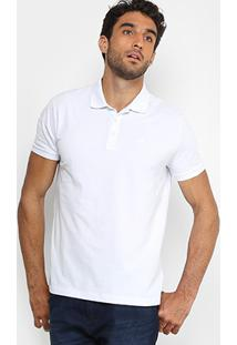 Camisa Polo Ellus 2Nd Floor Piquet Básica Lisa Masculina - Masculino-Branco