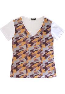 Camiseta It Shop Camuflada Branca
