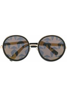 Jimmy Choo Óculos De Sol Redondo Andie - Preto