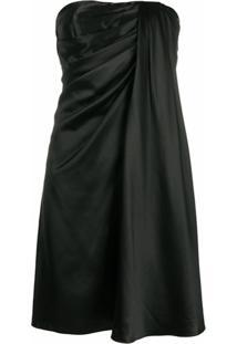 Dolce & Gabbana Vestido Drapeado Sem Mangas - Preto
