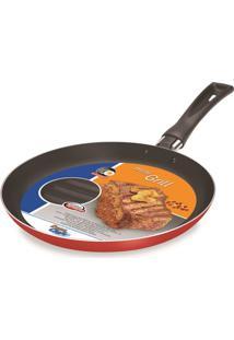 Frigideira Mini Grill 21 Cm Vermelha Dona Chefa 1476