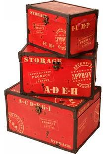 Baú De Madeira Decorativo Storage Pequeno - Unissex