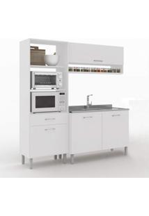 Cozinha Compacta 3 Peças 4 Portas Uccelli Vedere Branco