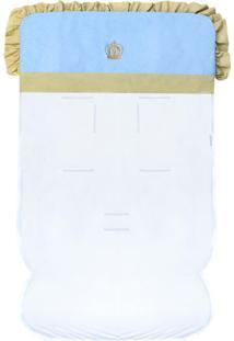 Capa De Carrinho Padroeira Baby Coroa Luxo Azul