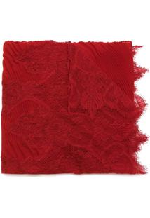 Valentino Lenço De Seda - Vermelho