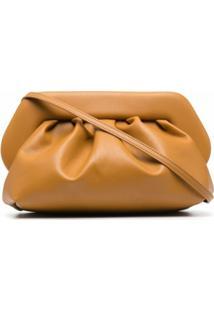 Themoirè Bios Leather Clutch Bag - Amarelo