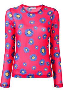 Molly Goddard Blusa Com Estampa Floral - Vermelho