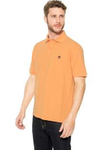 Camisa Polo Mr Kitsch Manga Curta Basic Laranja