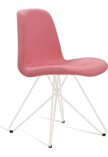 Cadeira Eames Com Base Butterfly Branco E Coral Daf - Coral - Dafiti