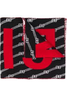 Balenciaga Echarpe Com Logo Bb - Preto