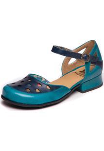 Sapato Mzq Feminino Boneca Azul - Cobalto / Passiflora 7718