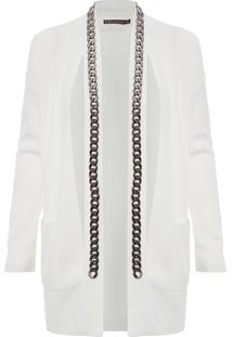 Cardigan Feminino Chains - Off White