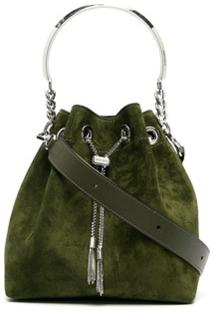 Jimmy Choo Bonbon Bucket Shoulder Bag - Verde