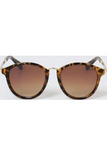 Óculos Feminino De Sol Estampa Animal Print Marisa
