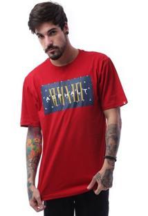 Camiseta Asphalt Mmxiii Masculina - Masculino-Vermelho