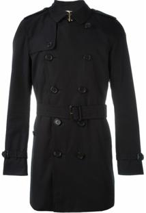 Burberry Trench Coat Com Cinto - Azul