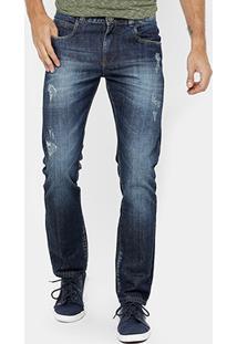 Calça Jeans Reta Dardak Puidos Estonada Masculina - Masculino