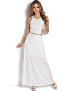 Vestido Longo Sem Mangas Branco