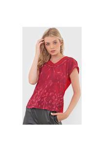 Blusa Cativa Estampada Vermelha