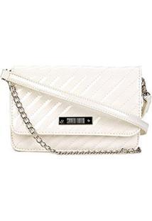 Bolsa Santa Lolla Mini Bag Matelassê Feminina - Feminino-Off White
