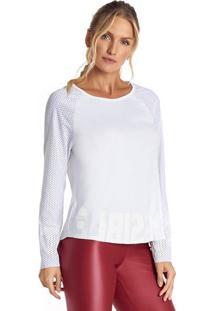 Blusa Com Recortes Em Micro Furos - Branca - Vestemvestem