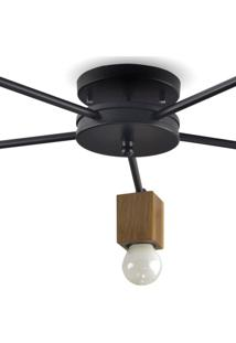 Luminária Aranha 5 Braços Isadora Design Preto/Marrom