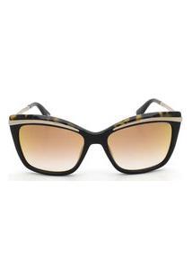 Óculos De Sol Victor Hugo Sh1739 700G/55 Preto/Tartaruga
