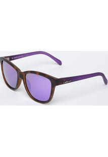 Óculos De Sol Quadrado - Marrom & Roxo - Colccicolcci