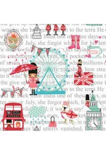 Papel De Parede Lyam Decor Pink London Multicolorido