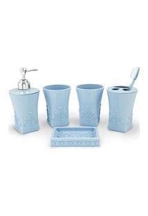 (Lifestyle) Kit Banheiro C/ 5 Pçs Azul