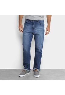 Calça Jeans Slim Calvin Klein Five Pockts Relaxed Straight Masculina - Masculino
