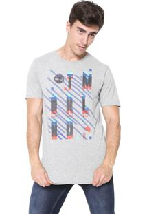 Camiseta Timberland New Wave Picket Cinza