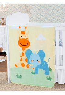 Cobertor Infantil Para Bebê - Amarelo