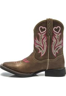 Bota Texana Feminina - Dallas Castor - Roper - Bico Quadrado - Cano Medio - Solado Freedom Flex - Vimar Boots - 13064-A-Vr