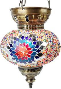 Luminária Turca Mosaico Color