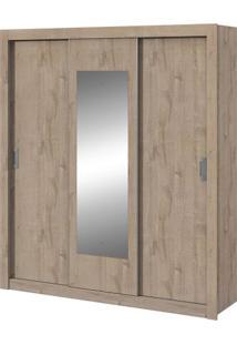 Guarda-Roupa Apoena New Com Espelho - 3 Portas - Ébano Soft Guarda-Roupa Apoena New - 3 Portas - Ébano Soft - Com Espelho