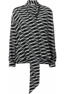 Balenciaga Blusa Fluid Vareuse - Preto
