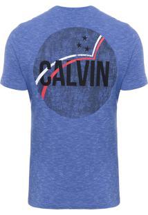 Camiseta Masculina Ckj Estampa Calvin - Azul