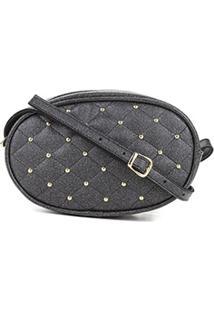 Bolsa Dergham Mini Bag Matelassê Feminina - Feminino-Chumbo