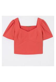 Blusa Cropped Lisa Em Alfaiataria Curve & Plus Size | Ashua Curve E Plus Size | Laranja | Gg
