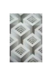 Papel De Parede Textura Alto Relevo Geometrico Cinza 3D